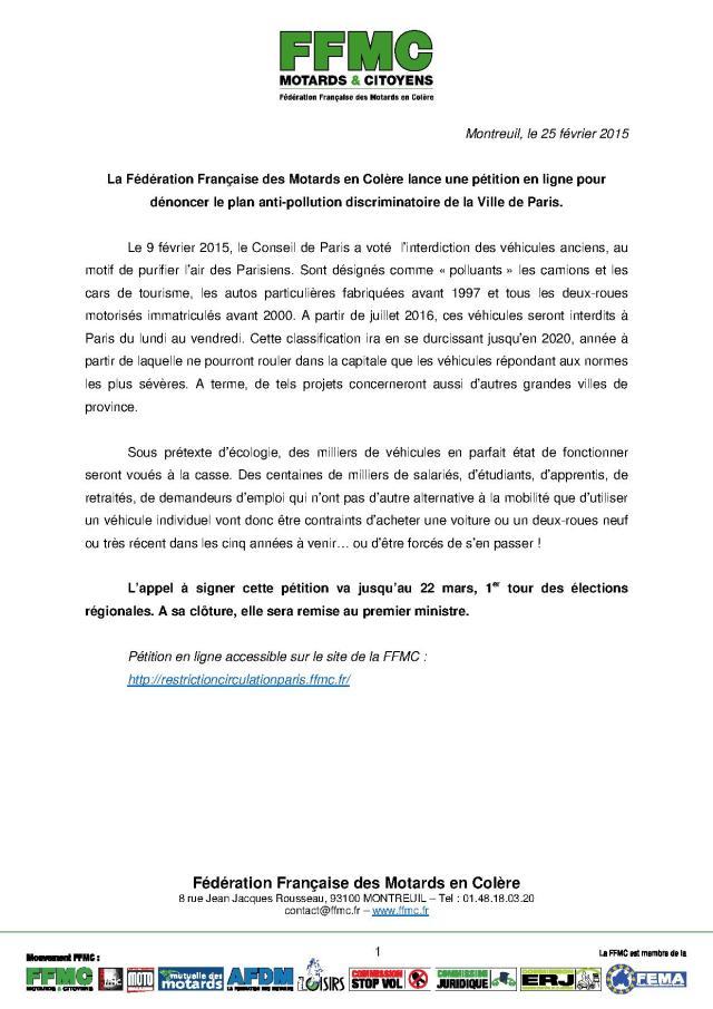 2015_02_25_CP FFMC_petition_plan_paris